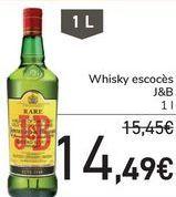 Oferta de Whisky escocés J&B  por 14,49€