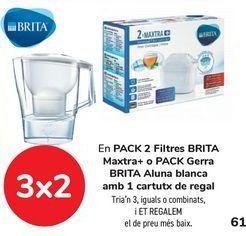 Oferta de En PACK 2 Filtros BRITA Maxtra+ o Pack Jarra BRITA Aluna blanca con 1 cartucho de regalo  por