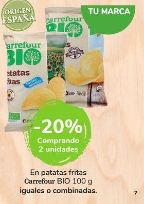 Oferta de En patatas fritas Carrefour bio por