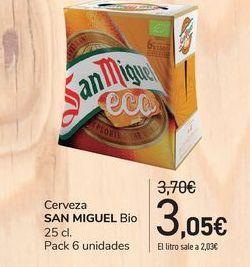 Oferta de Cerveza San Miguel Bio por 3,05€