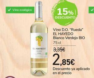"""Oferta de Vino D.O. """"Rueda"""" EL HAYEDO Blanco verdejo BIO por 2,85€"""