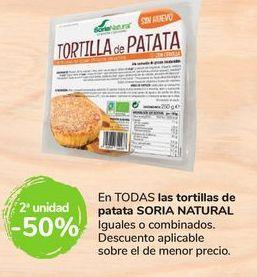 Oferta de En TODAS las tortillas de patata Soria Natural por