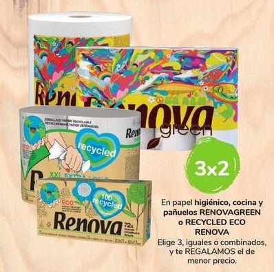 Oferta de En papel higiénico, cocina y pañuelos Renovagreen o Recycled Eco Renova por