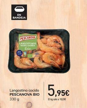 Oferta de Langostino cocido Pescanova Bio por 5,95€