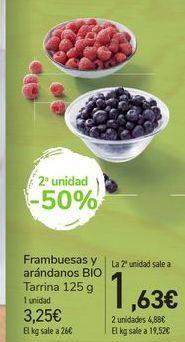 Oferta de Frambuesas y Arándanos BIO por 3,25€