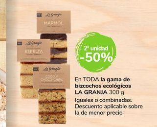 Oferta de En TODOS los bizcochos ecológicos LA GRANJA 300 gr por