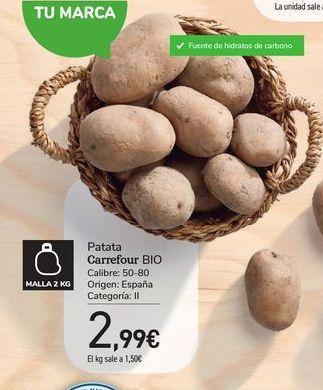 Oferta de Patata Carrefour Bio por 2,99€