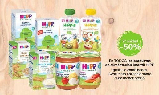 Oferta de En TODOS los productos de alimentación infantil Hipp por