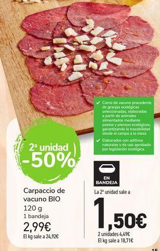 Oferta de Carpaccio de Vacuno BIO por 2,99€