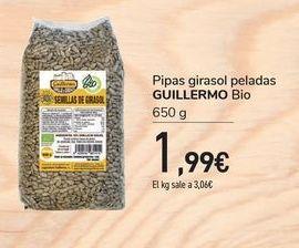 Oferta de Pipas de girasol peladas Guillermo Bio por 1,99€