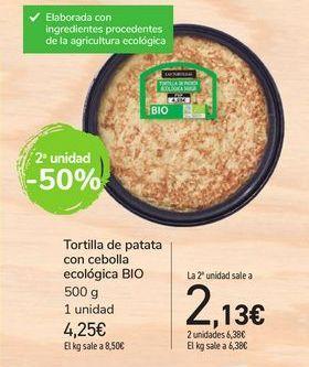 Oferta de Tortilla de patata con cebolla ecológica BIO por 4,25€