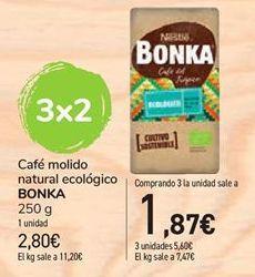 Oferta de Café molido natural ecolígico Bonka por 2,8€