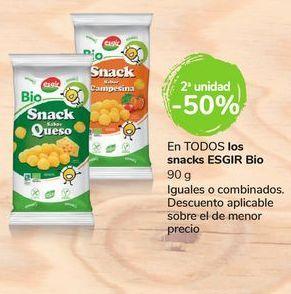 Oferta de En TODOS los snacks ESGIR Bio por