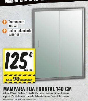 Oferta de Mampara de ducha por 125€