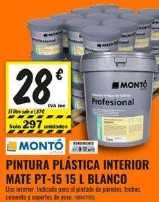 Oferta de Pintura plástica interior por 28€