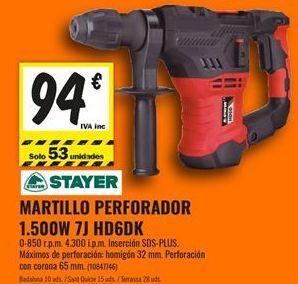 Oferta de Martillo perforador Stayer por 94€
