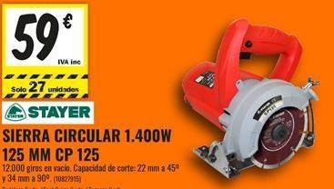 Oferta de Sierra circular Stayer por 59€