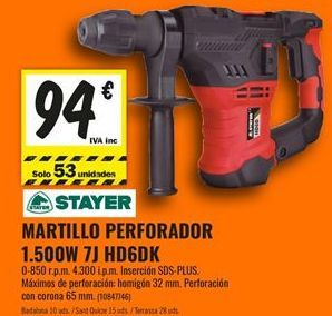 Oferta de Martillo perforador Stayer por 94€
