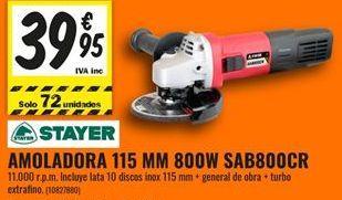 Oferta de Amoladora Stayer por 39,95€
