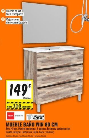 Oferta de Muebles de baño por 149€