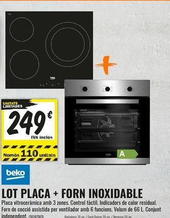 Oferta de Placa de inducción Beko por 249€