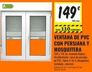 Oferta de Ventana de PVC por 149€