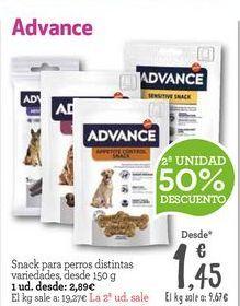 Oferta de Snacks para mascotas Affinity por 2,89€