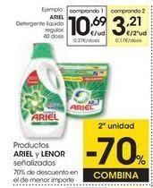 Oferta de Detergente líquido Ariel por 10,69€