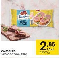 Oferta de Jamón de pavo Campofrío por 2,85€
