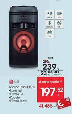 Oferta de Altavoces bluetooth LG por 239€