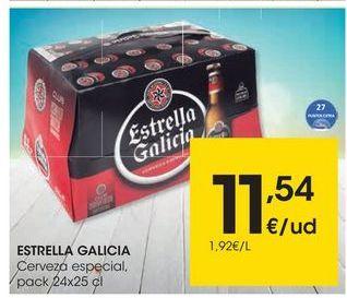 Oferta de Cerveza especial Estrella Galicia por 11,54€