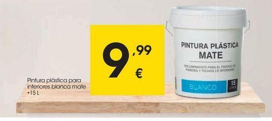 Oferta de Pintura plástica interior por 9,99€