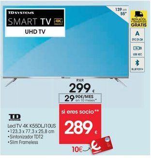 Oferta de Smart tv led 55'' Td systems por 299€