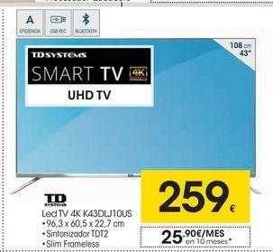 Oferta de Smart tv led Td systems por 259€
