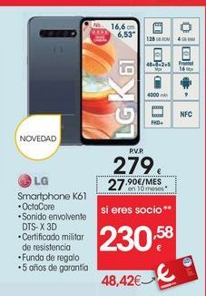 Oferta de Smartphones LG por 279€
