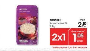 Oferta de Arroz basmati eroski por 2,1€