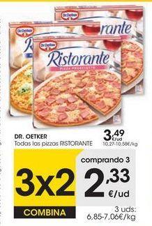 Oferta de Pizza Dr Oetker por 3,49€