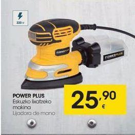 Oferta de Lijadora de mano Power plus por 25,9€