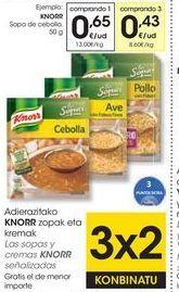 Oferta de Sopa de cebolla Knorr por 0,65€