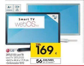 Oferta de Tv led 28'' LG por 169€