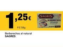 Oferta de Berberechos al natural Sagres por 1,25€