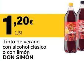 Oferta de Tinto de verano Don Simón por 1,2€