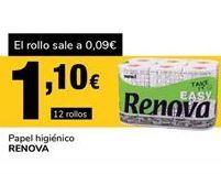 Oferta de Papel higiénico Renova por 1,1€