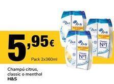 Oferta de Champú citrus, Classic h&s por 5,95€