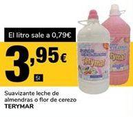 Oferta de Suavizante leche de almendras o flor de cerezo Terymar por 3,95€