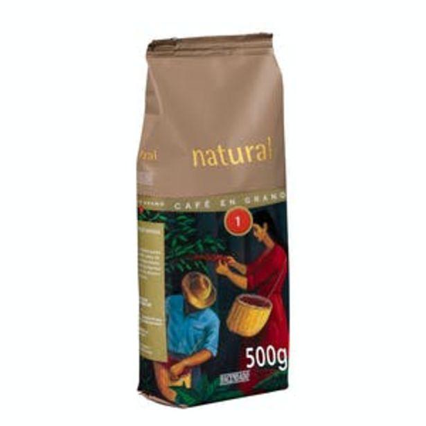 Oferta de Café en grano natural Hacendado por 3,2€