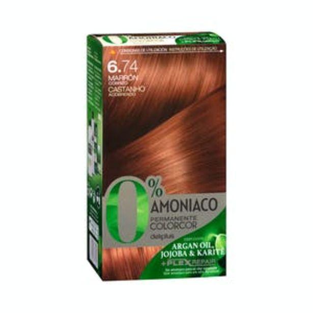 Oferta de Coloración permanente 0% amoníaco Deliplus 6.74 marrón cobrizo por 3,9€