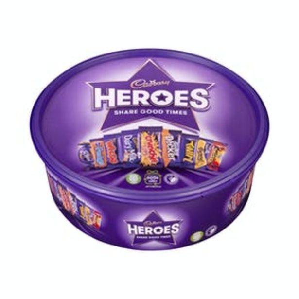 Oferta de Chocolates surtidos y caramelos Heroes Cadbury rellenos de chocolate con leche por 5,95€