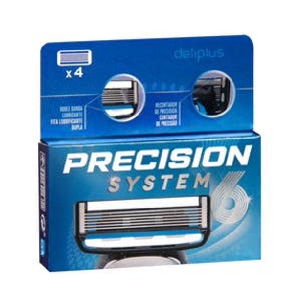 Oferta de Recambios maquinilla de afeitar Precision System 6 Deliplus por 5,45€