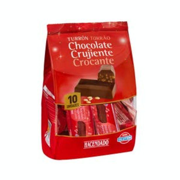 Oferta de Porciones de turrón de chocolate crujiente Hacendado por 1,95€